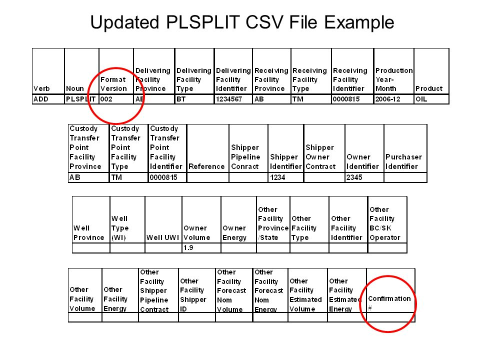 Updated PLSPLIT CSV File Example