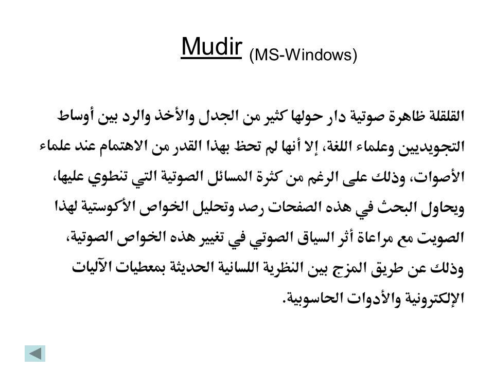 Mudir (MS-Windows)