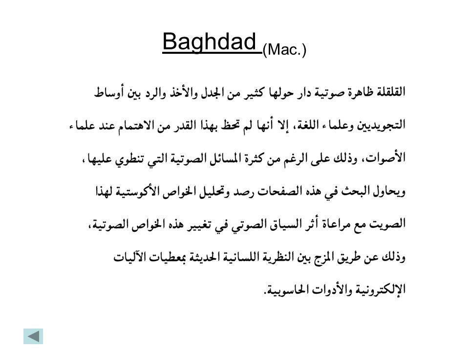 Baghdad (Mac.)