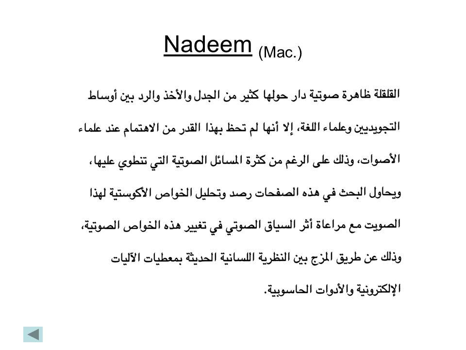 Nadeem (Mac.)