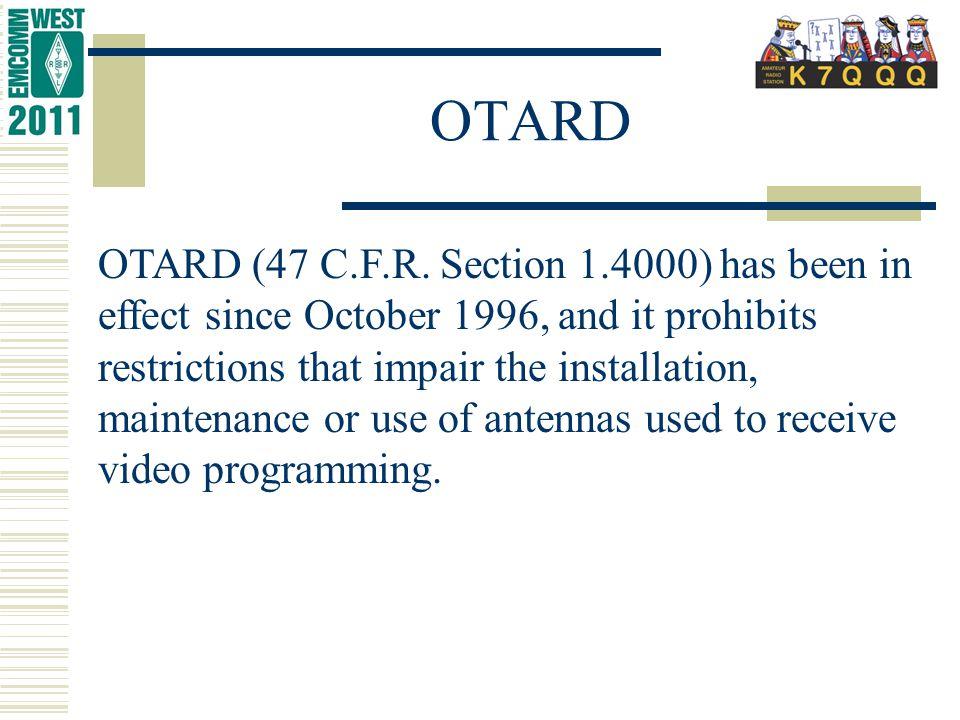 OTARD OTARD (47 C.F.R.