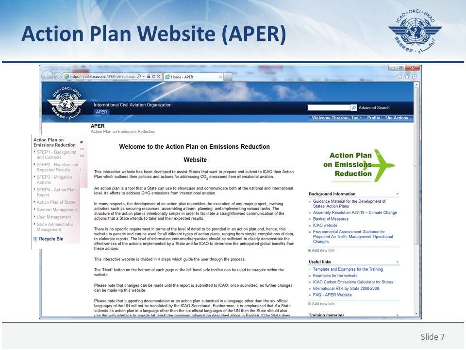 Slide 7 Action Plan Website (APER)