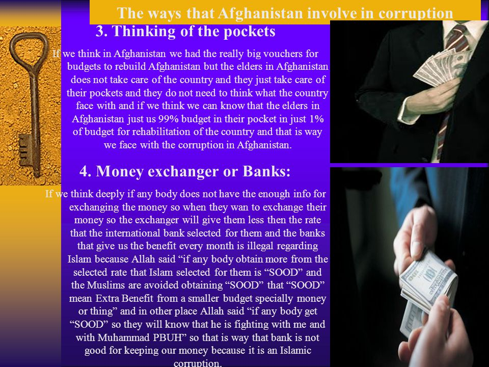The ways that Afghanistan involve in corruption 3.