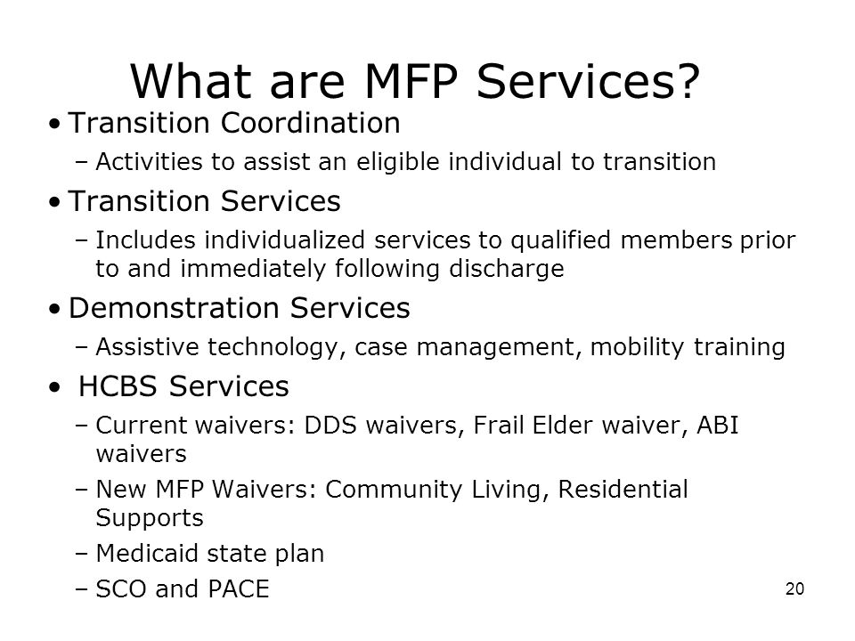 What are MFP Services.