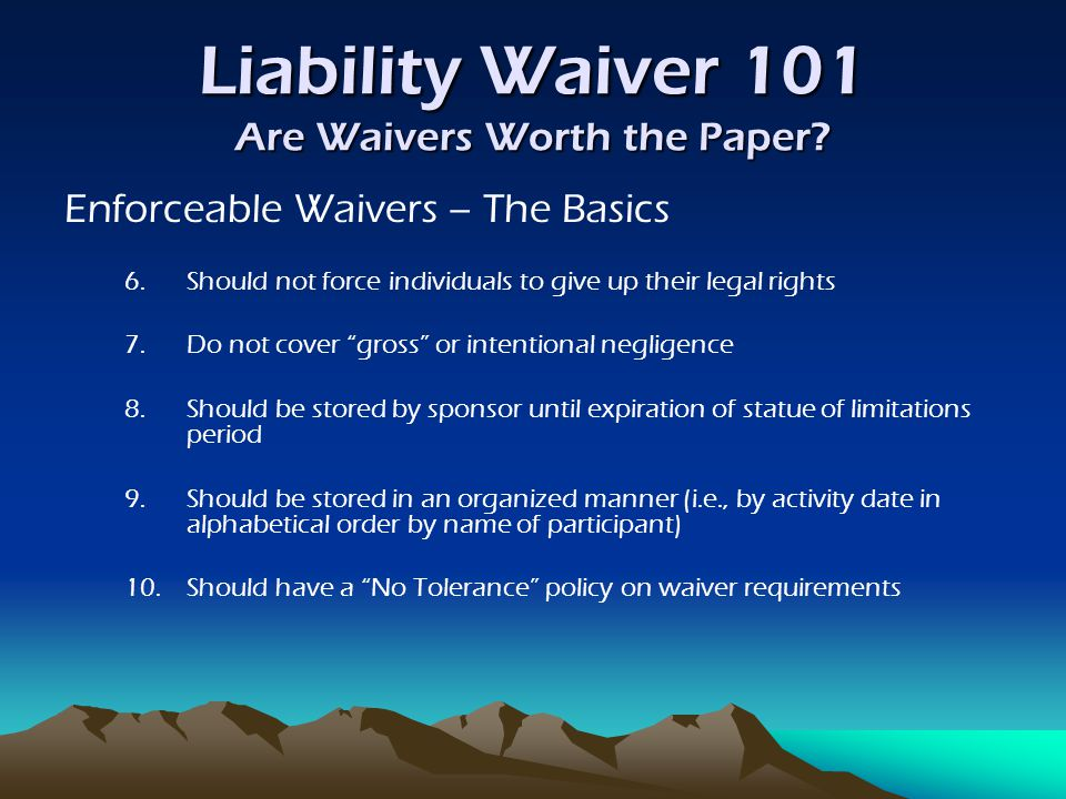 Liability Waiver 101 Are Waivers Worth the Paper.