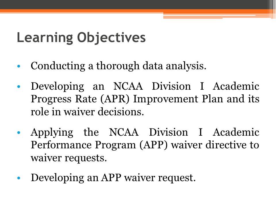 APR Improvement Plan Development (cont.) ▫ Stop the bleeding. ▫Consider the team s long-term health.