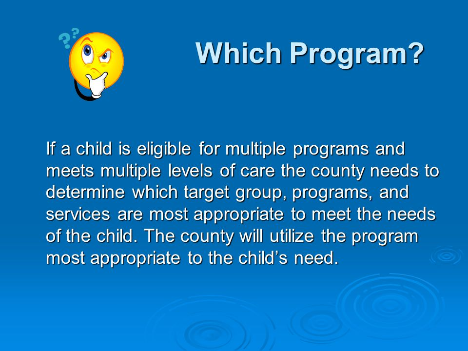 Which Program.