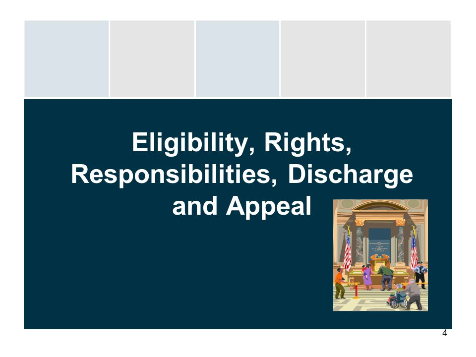 4 Eligibility, Rights, Responsibilities, Discharge and Appeal