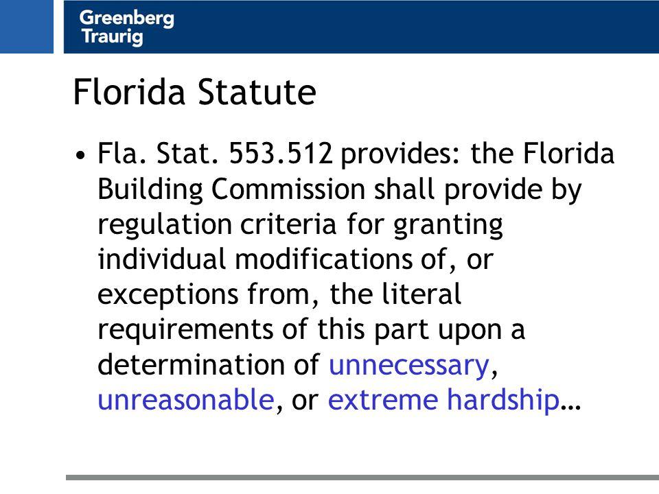 Florida Statute Fla. Stat.