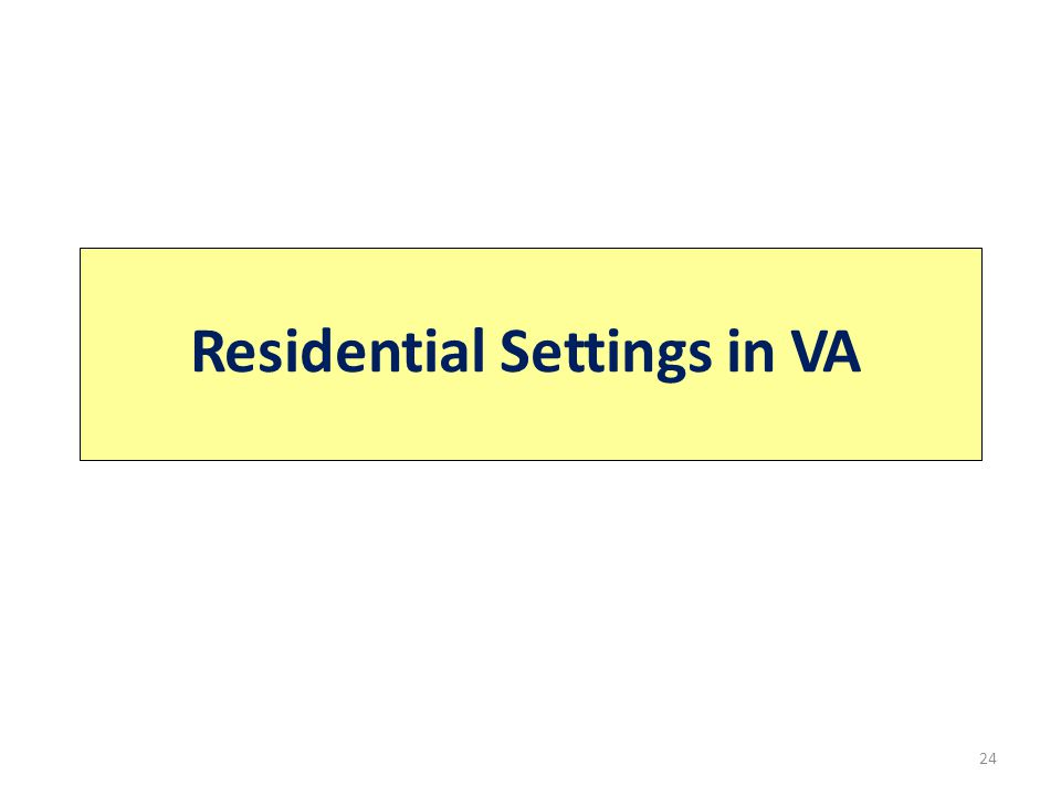 Residential Settings in VA 24