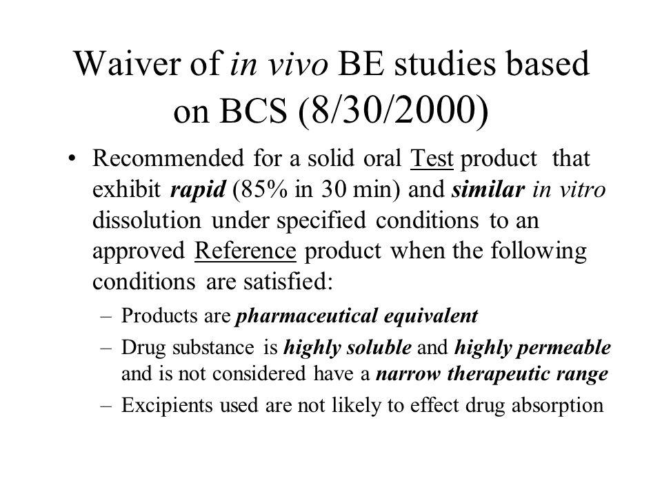 Ajaz Hussain, FDA Recommendations on Exploring Extension of BCS.