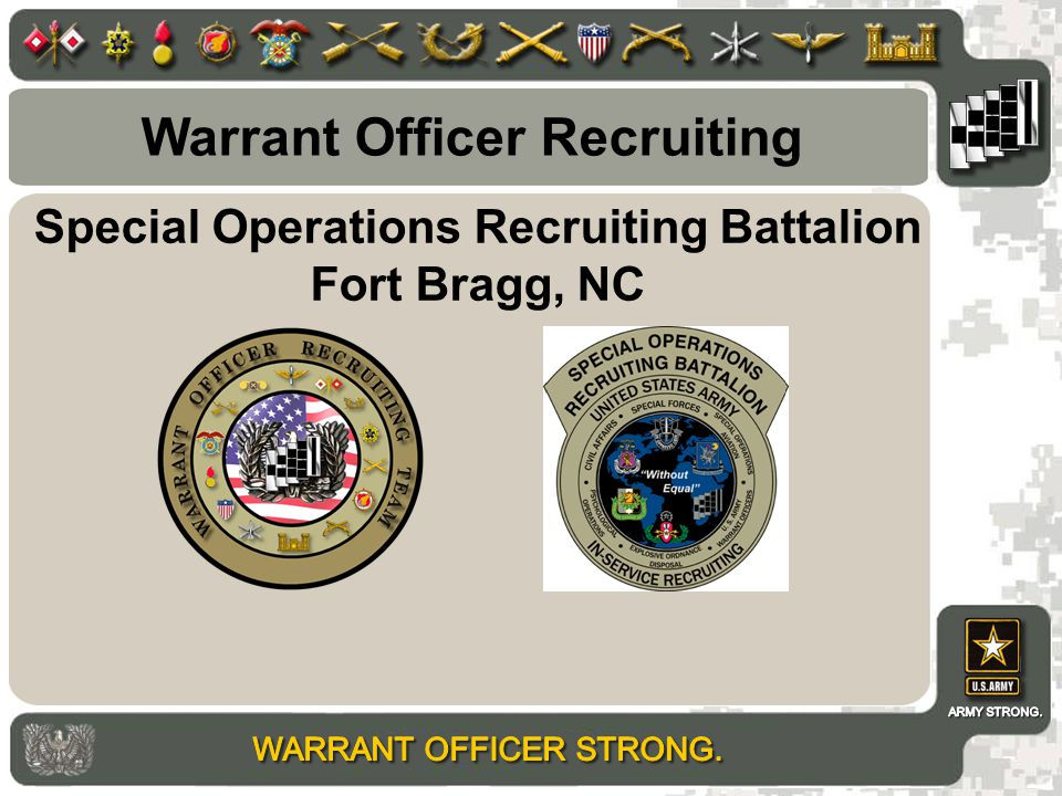 Special Operations Recruiting Battalion Fort Bragg, NC Warrant Officer Recruiting