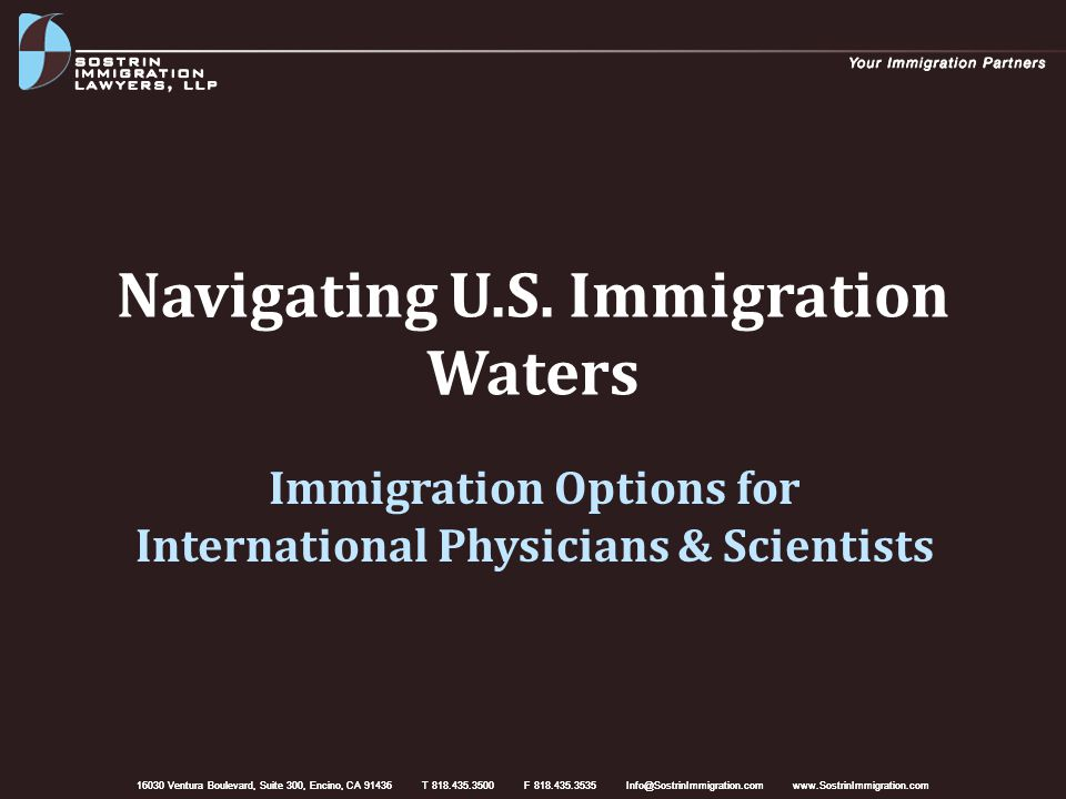 Nonimmigrant Visas (O-1) Suggested evidence in support of petition: – Confirmation of achievements (publications, presentations, peer-review or editorial duties, awards, memberships, etc.) – Reference letters (7-8) from experts in the field – Press about beneficiary or his/her work Present as much evidence as possible to meet more than 3 criteria O-1 visa may be stepping stone for green card