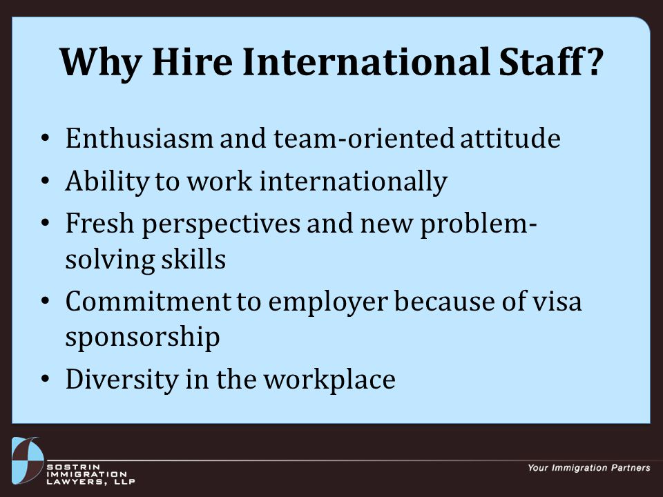 Why Hire International Staff.