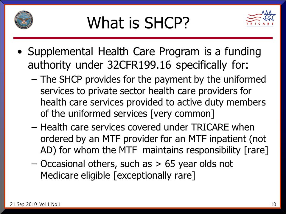 21 Sep 2010 Vol 1 No 110 What is SHCP.