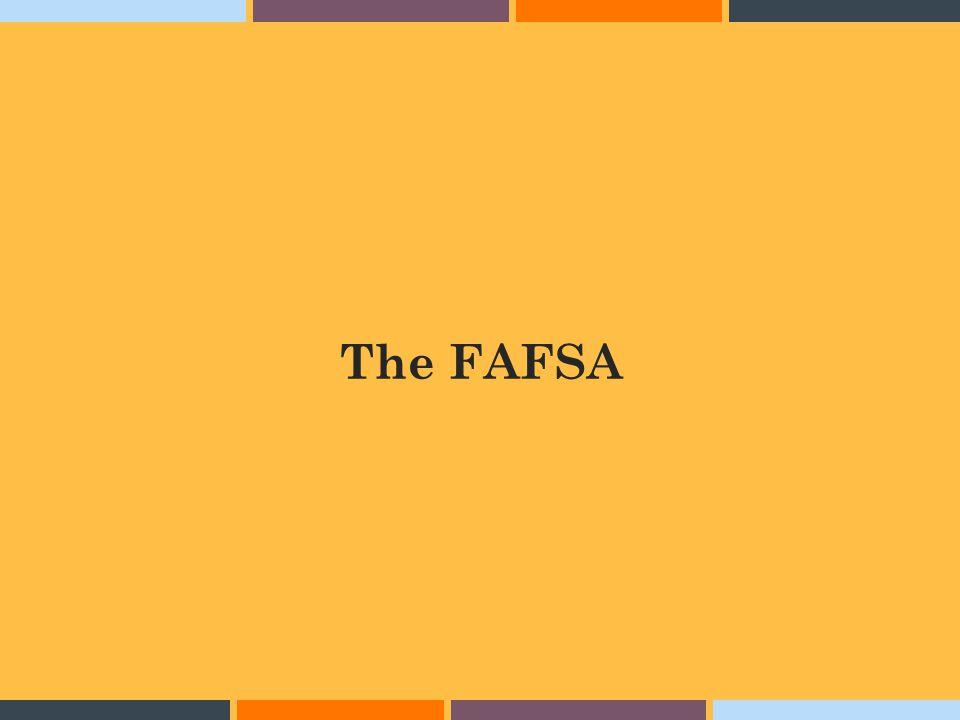 The FAFSA