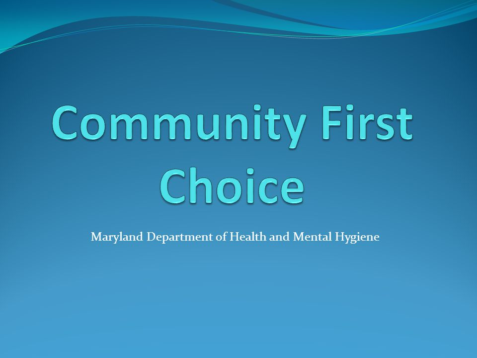 Maryland Department of Health and Mental Hygiene