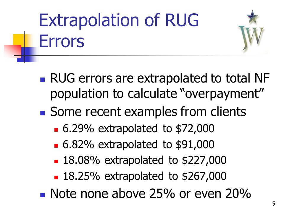 6 Extrapolation of RUG Errors Initial good intentions or HHSC-OIG throwing a bone to providers.