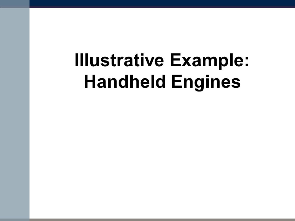 Illustrative Example: Handheld Engines