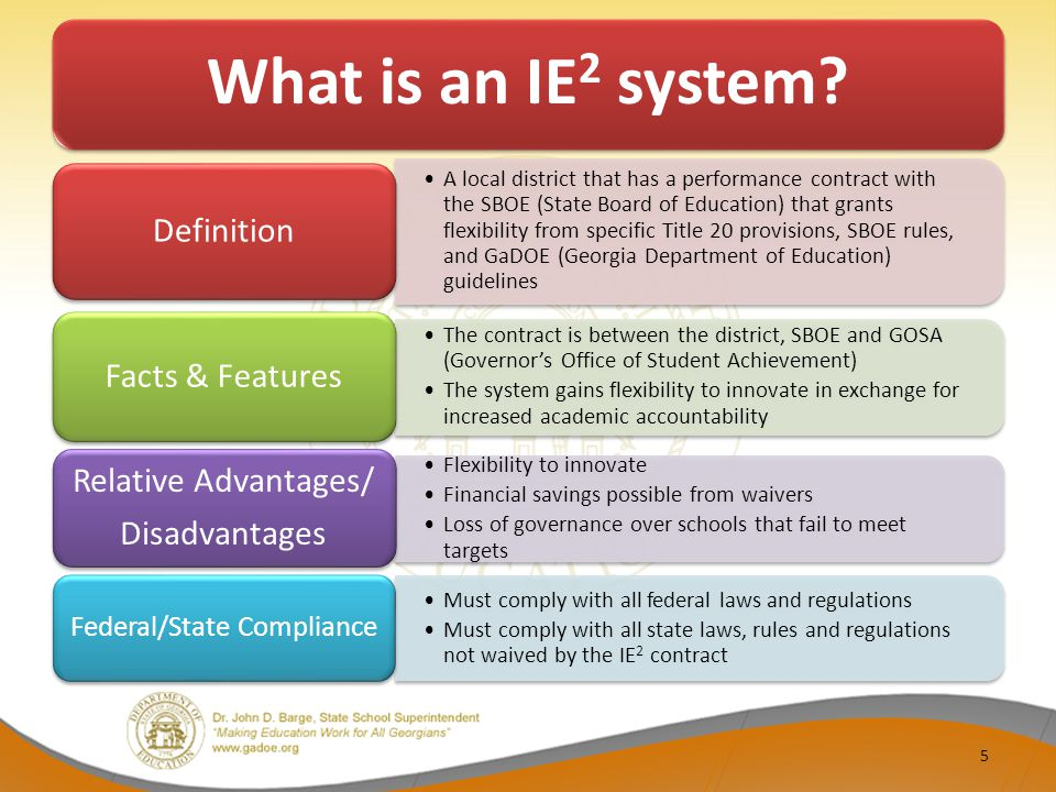 What is an IE 2 system.
