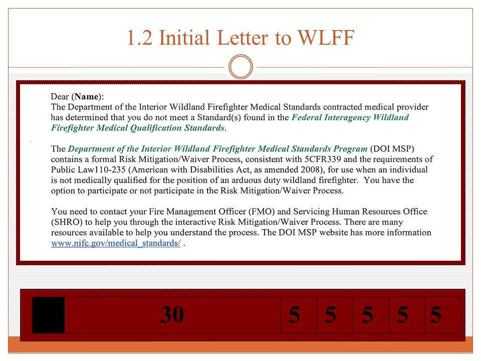1.2 Initial Letter to WLFF 55530555
