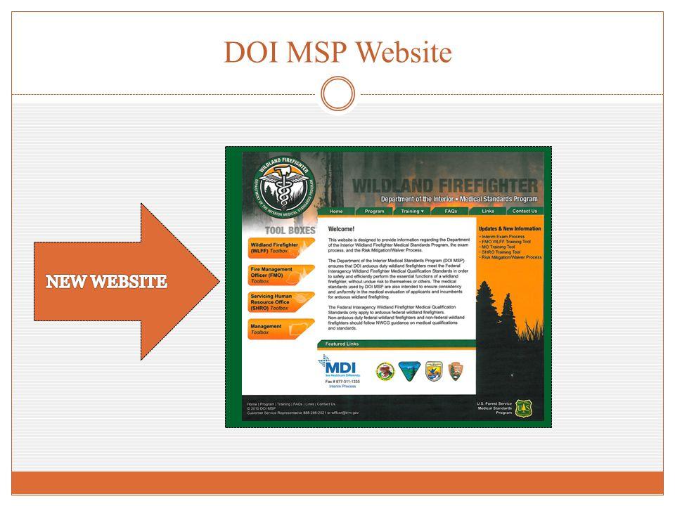 DOI MSP Website