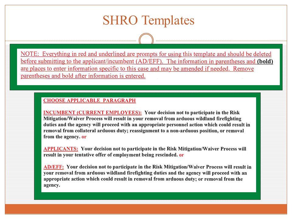 SHRO Templates