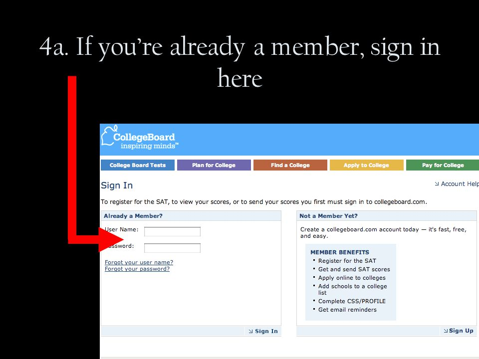 4a. If you're already a member, sign in here
