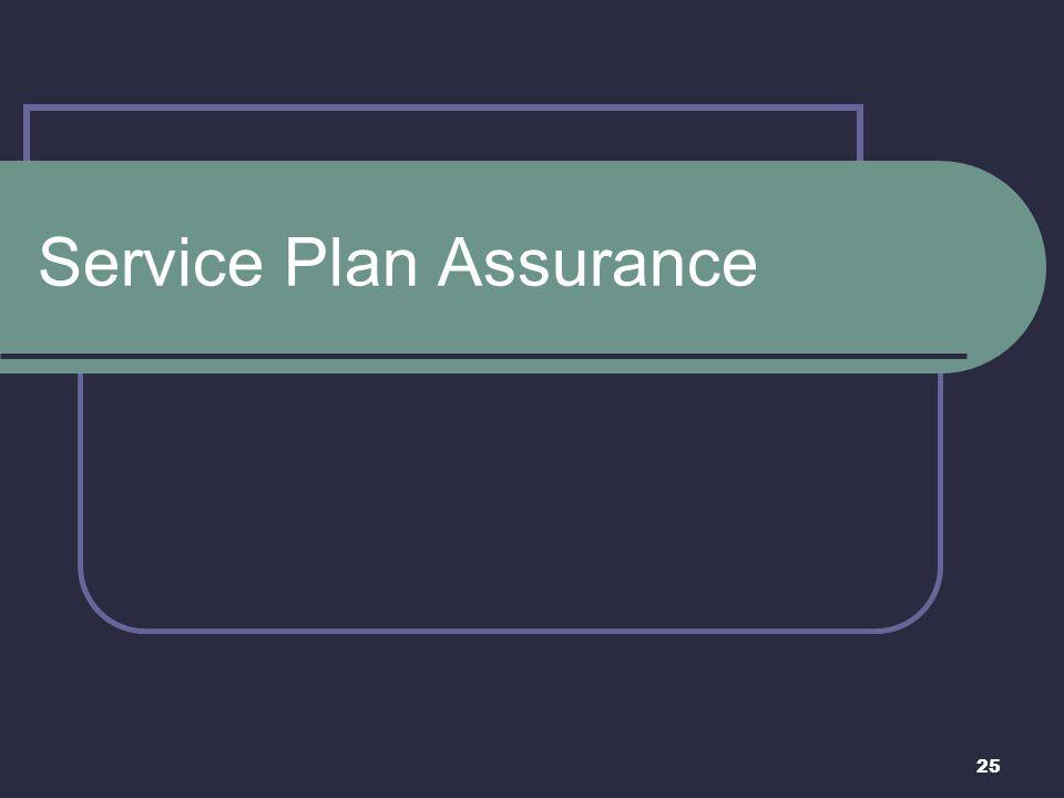 25 Service Plan Assurance