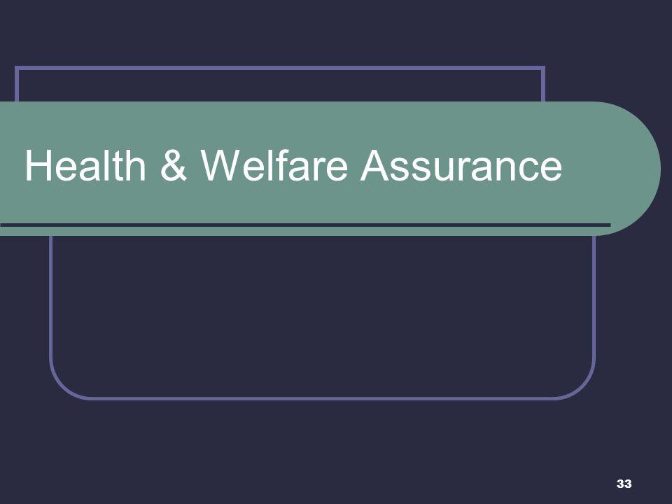 33 Health & Welfare Assurance