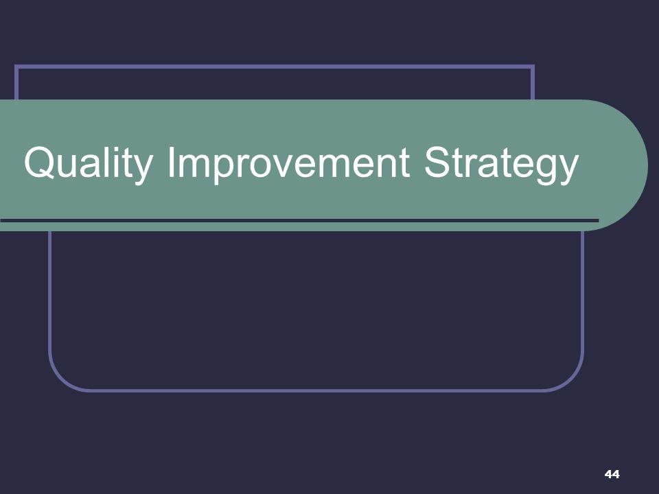 44 Quality Improvement Strategy