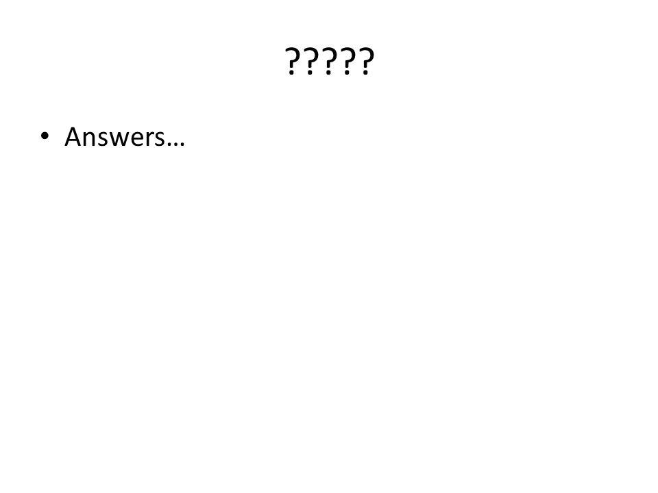 Answers…