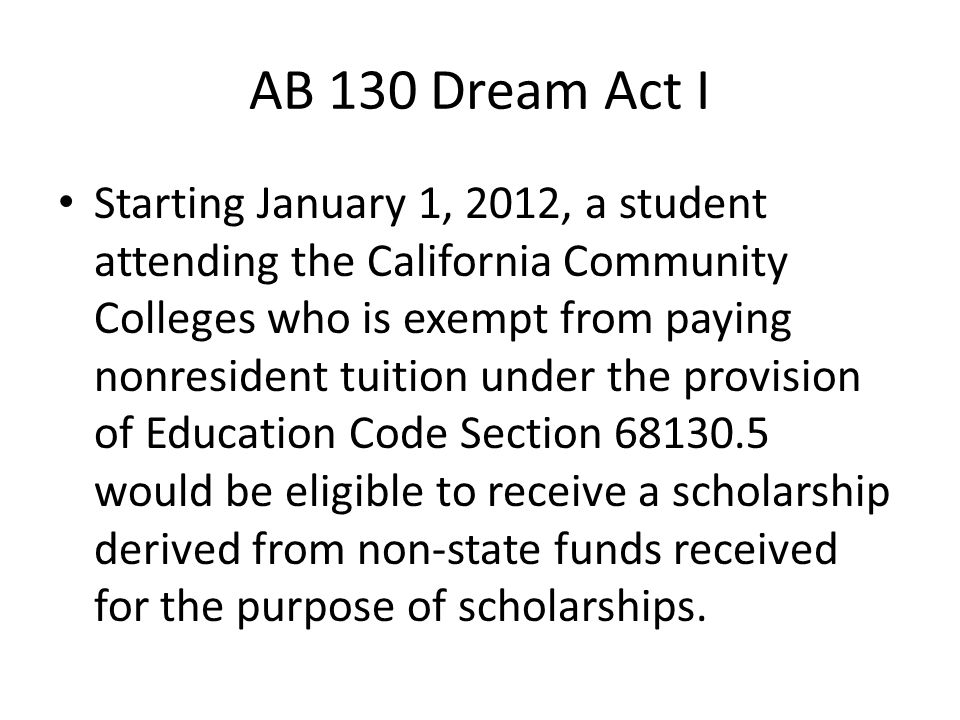 2011-12 (cont) Work with ICANAFFORDCOLLEGE to develop and disseminate collateral materials for AB131/540 populations explaining timelines, rights and responsibilities for financial aid applications and awards.