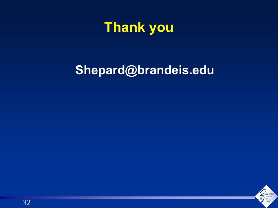 32 Thank you Shepard@brandeis.edu
