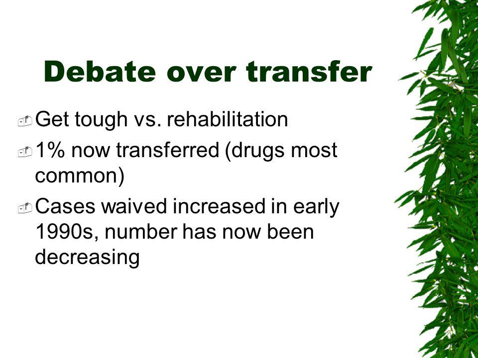 Debate over transfer  Get tough vs.