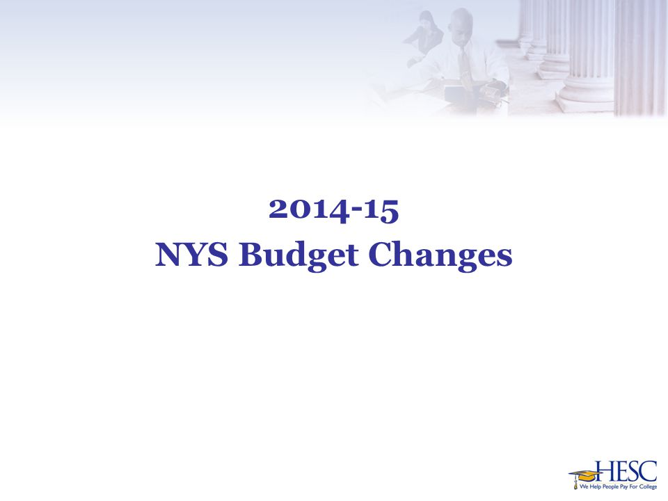 2014-15 NYS Budget Changes