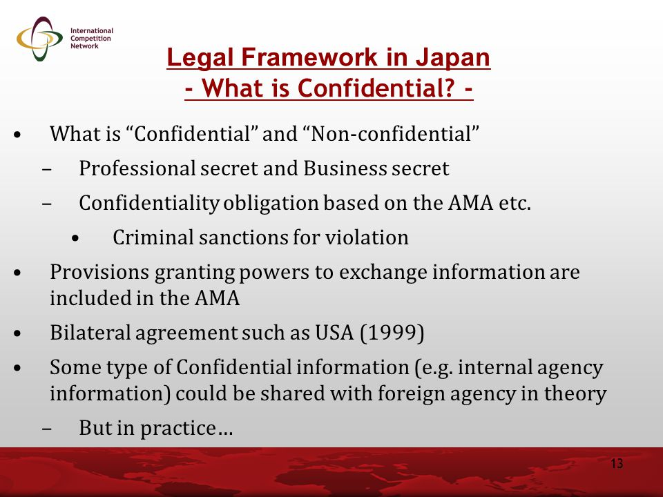 What is Confidential and Non-confidential –Professional secret and Business secret –Confidentiality obligation based on the AMA etc.