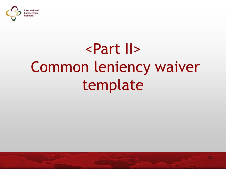 Common leniency waiver template 14