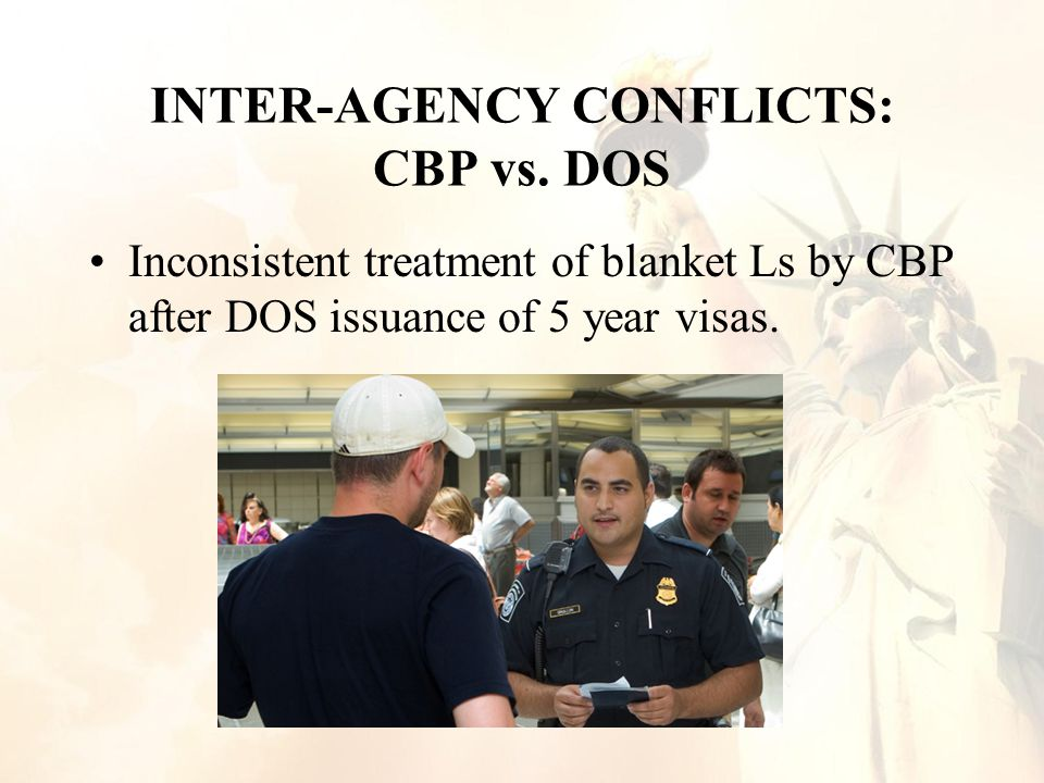 INTER-AGENCY CONFLICTS: CBP vs.