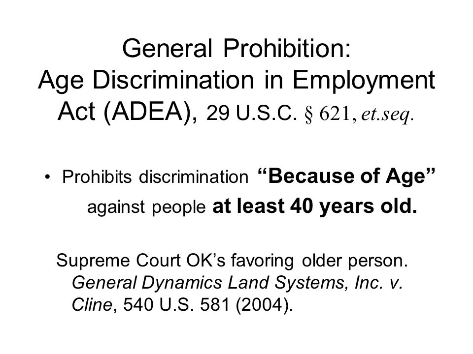 Types of Prohibited Actions Affecting a compensation, terms, conditions, or privileges of employment –Hiring, firing, raises –Appraisals, transfers –Employee benefits –Harassment Limits, segregates, or classifies to deprive of employment opportunities or otherwise adversely affects status as employee.