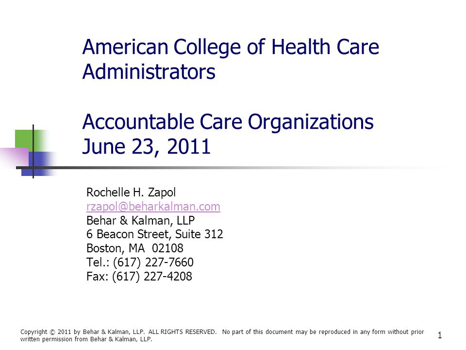 22 Role of the Division of Health Care Finance and Policy, cont.
