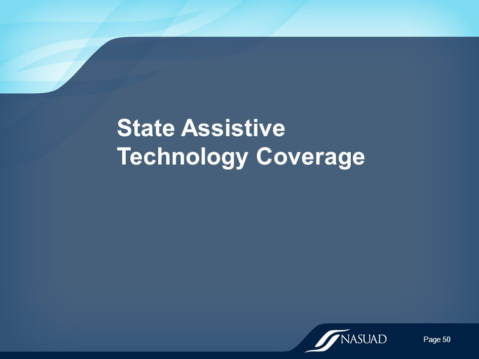 State Assistive Technology Coverage Page 50