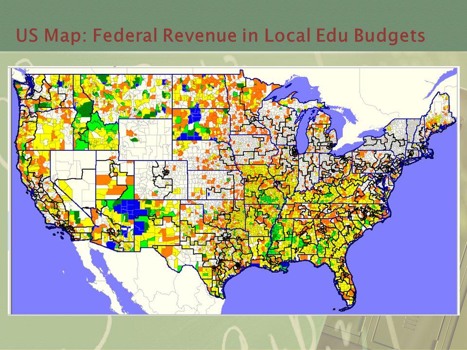 US Map: Federal Revenue in Local Edu Budgets