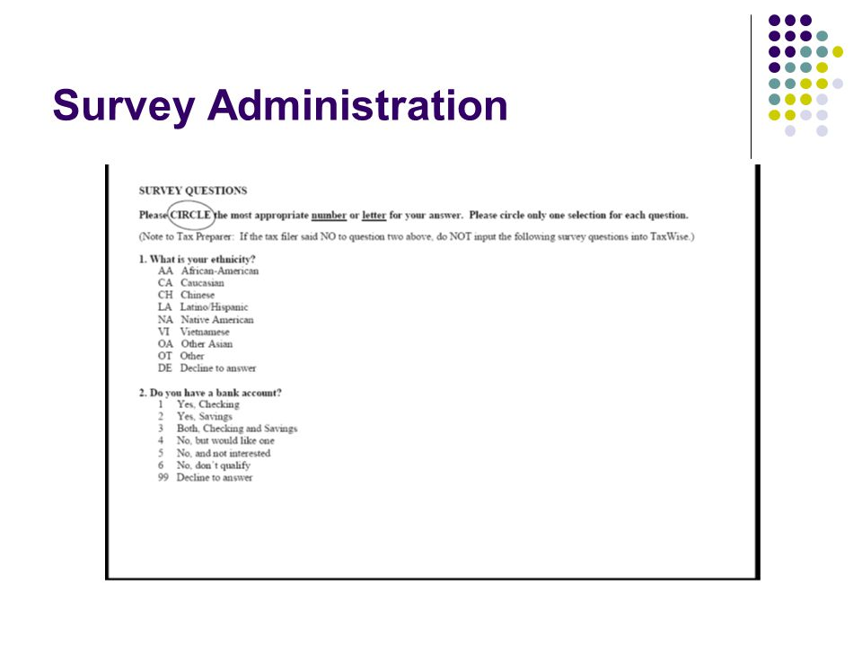 Survey Administration