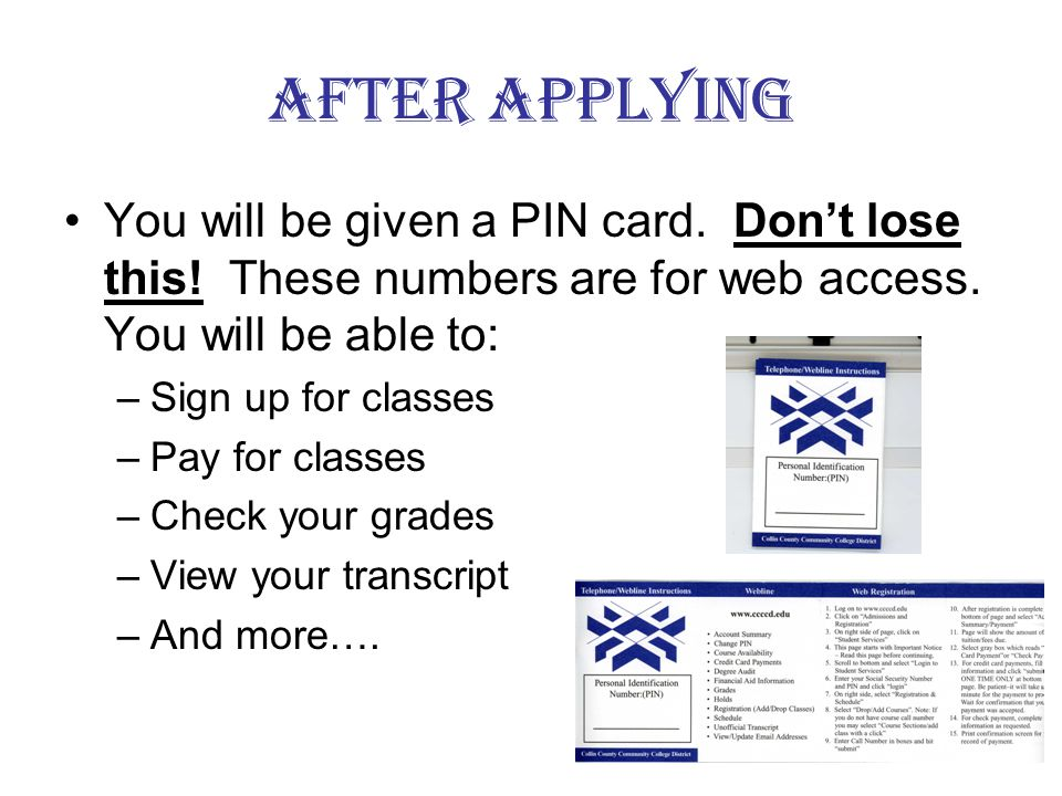 Transcripts You will need to submit an official transcript from other schools you have attended.