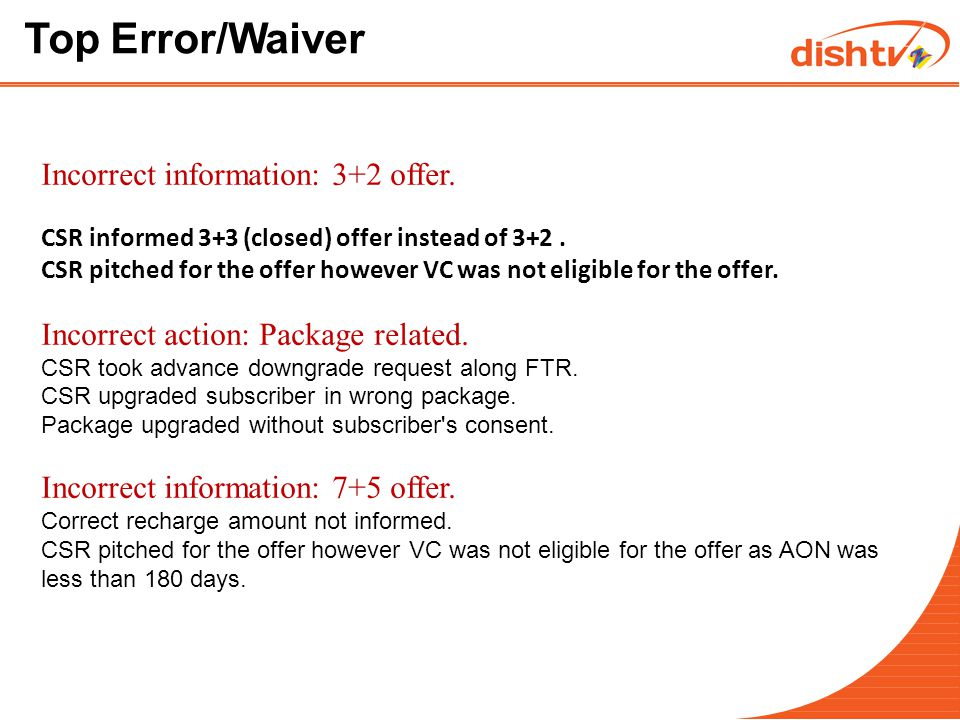 Top Error/Waiver Incorrect action: Kitty points.