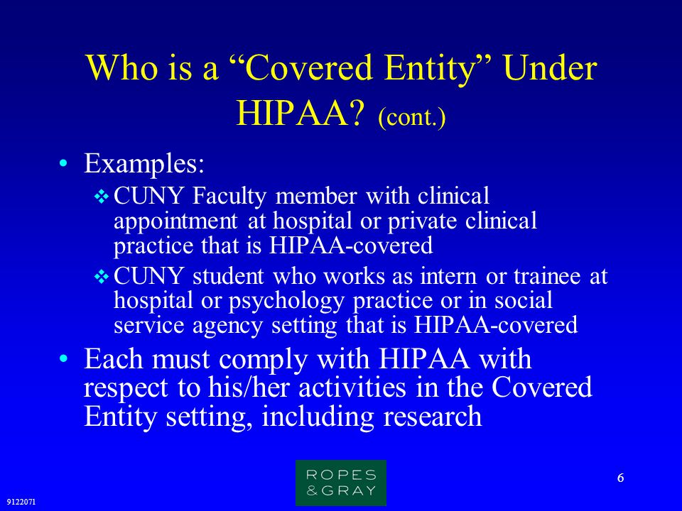 9122071 27 HIPAA: Patient Authorization for Research (cont.) SIGNATURE I have read this form and all of my questions about this form have been answered.