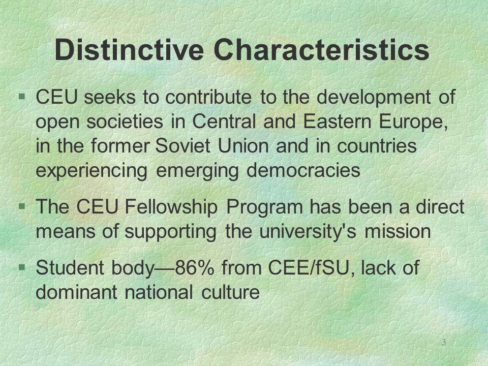 4 CEU Student Profile in 2004/2005