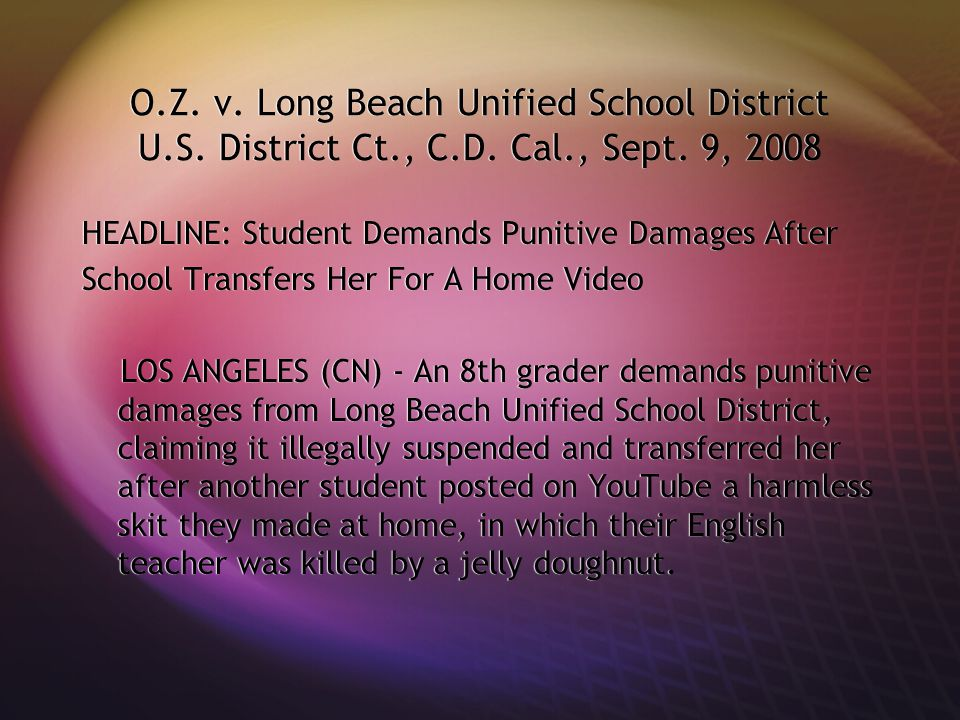 O.Z.v. Long Beach Unified School District U.S. District Ct., C.D.