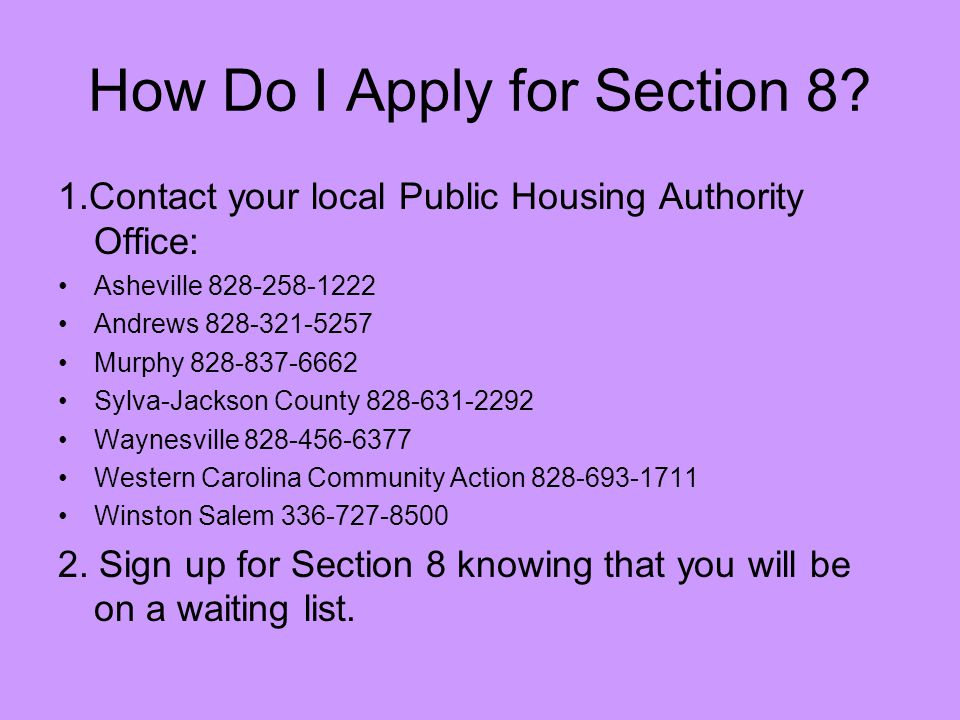 How Do I Apply for Section 8.
